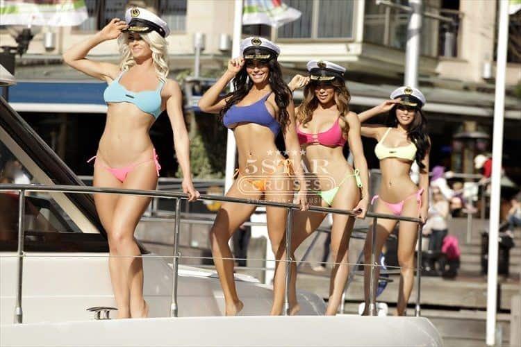 Girls on 5 Star Cruises Boat