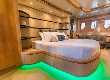 lavish bedroom boat