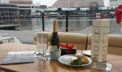 food and drink on a boat